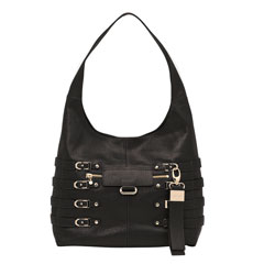 Bardia/M Textured Leather handbag